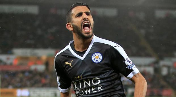 Hat-trick hero Riyad Mahrez was involved in a tunnel bust-up with Swansea captain Ashley Williams after the Leicester's 3-0 win