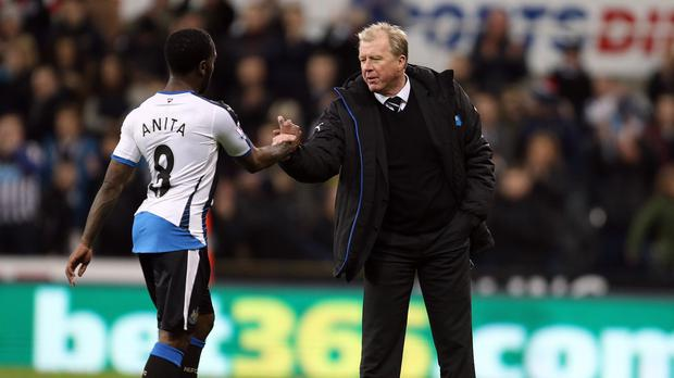Steve McClaren, right, was a relieved man after Sunday's 2-0 victory over Liverpool