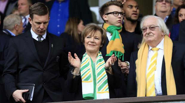 Board changes are ahead at Norwich, where Delia Smith, centre, and husband Michael Wynn Jones remain majority shareholders