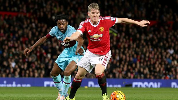 Bastian Schweinsteiger, right, faces a three-match ban if found guilty