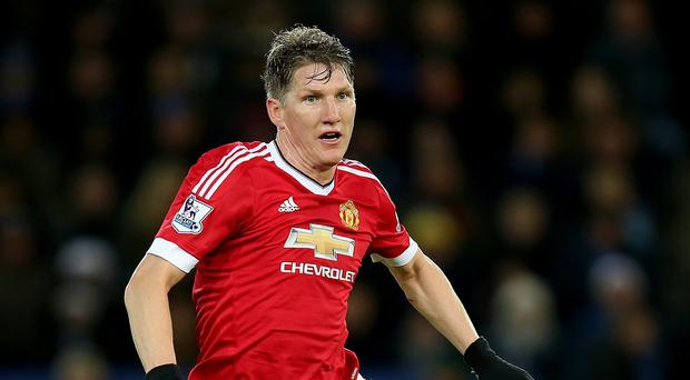 Manchester United's Bastian Schweinsteiger had a shaky game at Wolfsburg
