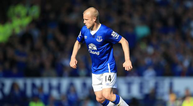 Steven Naismith has not played in the Premier League for Everton since October