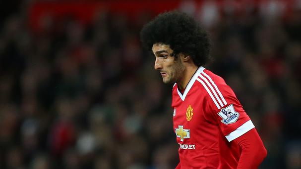Manchester United's Marouane Fellaini, pictured, has supported under-fire Louis van Gaal