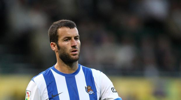Getafe were incensed Real Sociedad's equaliser from Imanol Agirretxe, pictured, was allowed to stand