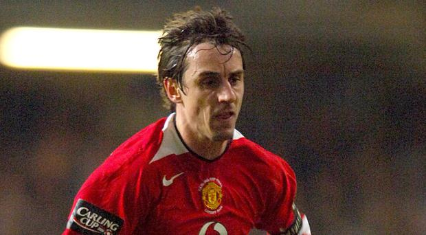 Gary Neville made 602 appearances for Manchester United between 1992 and 2011