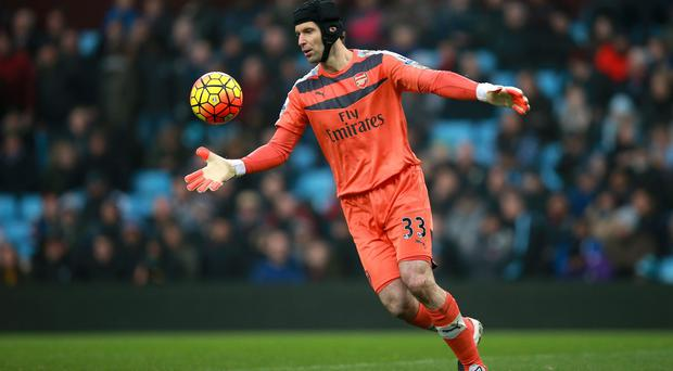 Arsenal goalkeeper Petr Cech had little to do at Aston Villa on Sunday to keep a clean sheet.