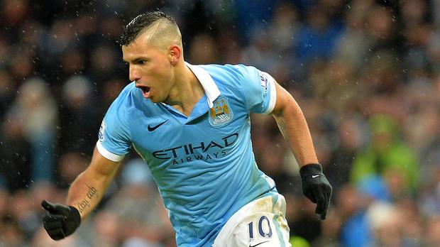 Manchester City's Sergio Aguero could be back in action in Monday's match at Arsenal.