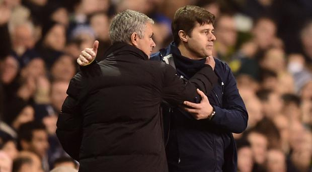 Mauricio Pochettino, right, believes the Premier League is worse off without Jose Mourinho, left