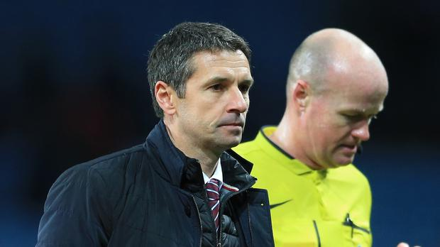 Aston Villa manager Remi Garde is still looking for his first win.