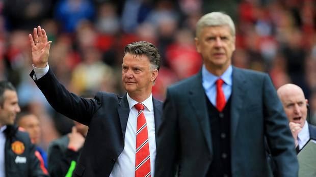 Arsenal boss Arsene Wenger (right) has defended the record of Manchester United counterpart Louis van Gaal (left).