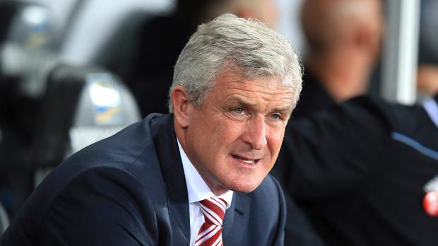 Stoke manager Mark Hughes is pleased with his side's progress