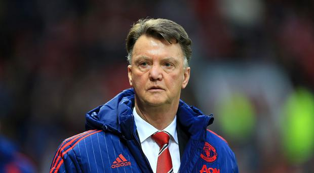 Manchester United manager Louis van Gaal walked out of a press conference on Wednesday