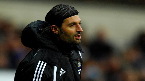 Former Newcastle keeper Pavel Srnicek remains in an induced coma in hospital