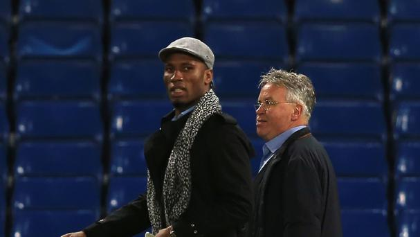 Didier Drogba, pictured left, could soon return to Chelsea in a coaching capacity