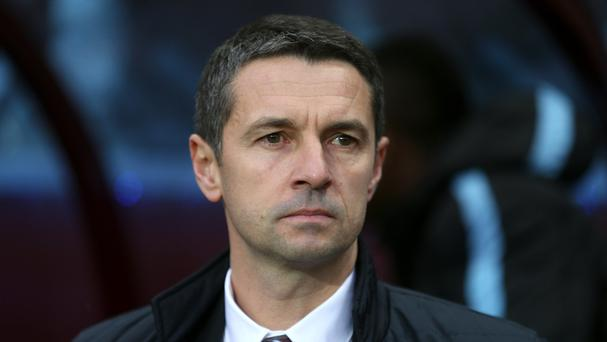 Aston Villa manager Remi Garde is trying to inspire his players during their relegation battle.