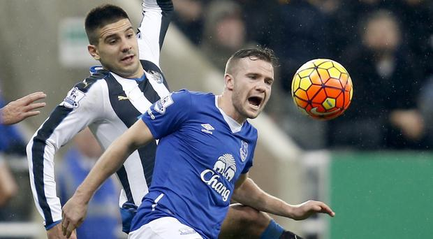 Tom Cleverley, right, scored to punish Aleksandar Mitrovic's miss