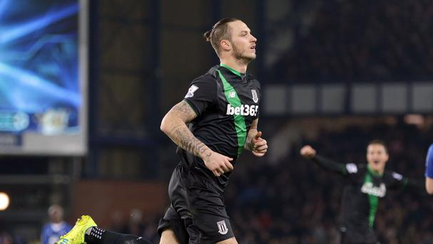 Marko Arnautovic celebrates after scoring the winner