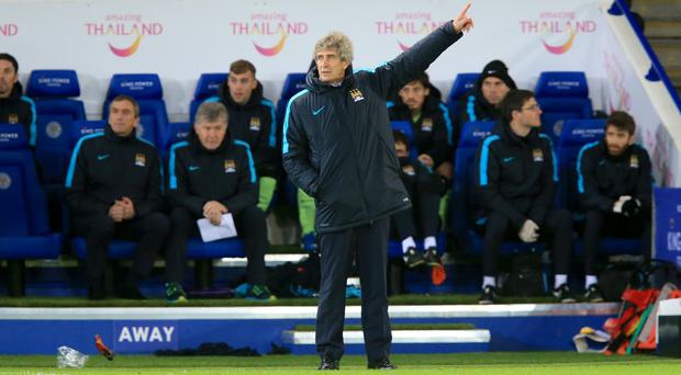 Manuel Pellegrini saw his side keep a rare clean sheet without Vincent Kompany against Leicester