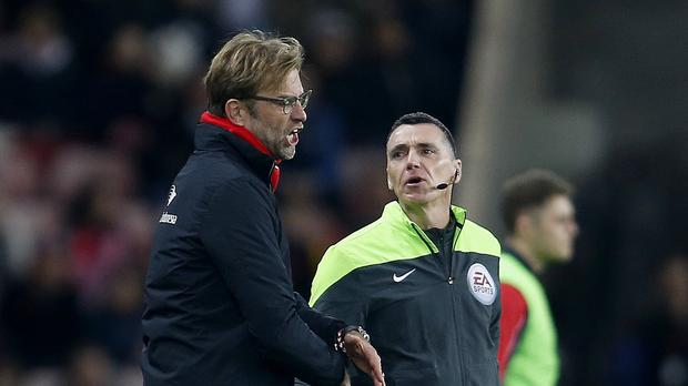 Liverpool manager Jurgen Klopp was frustrated by the officials as his side won at Sunderland