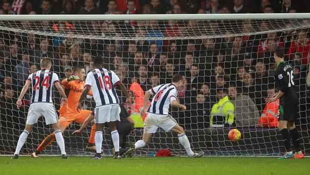 Jonny Evans scored a late winner for West Brom