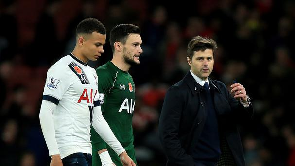 Spurs manager Mauricio Pochettino, right, praised the performance of Dele Alli, left.