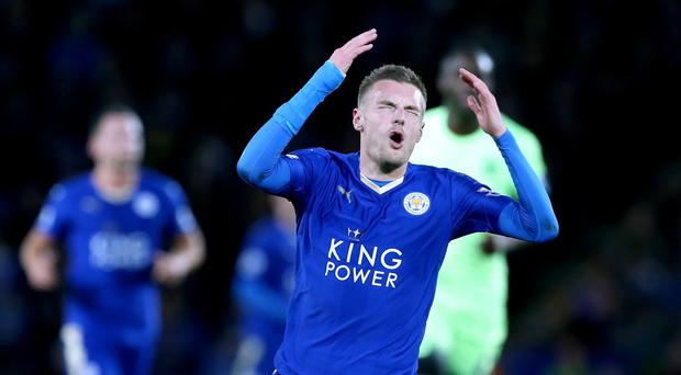 Leicester striker Jamie Vardy is set for a minor operation