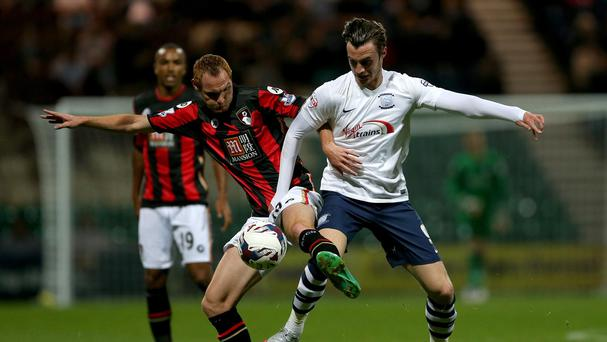 Will Keane, right, was on loan at Preston for the first half of the season