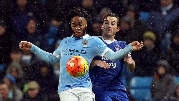 Raheem Sterling, left, felt he should have been awarded a late penalty