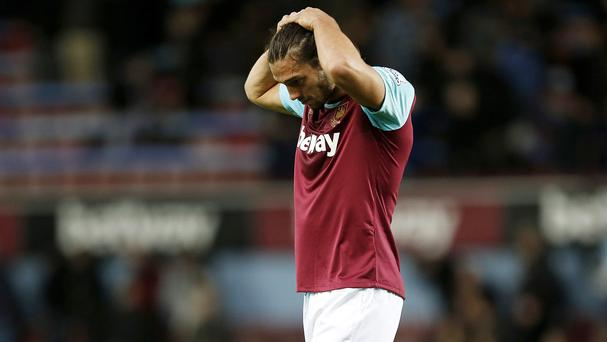 West Ham striker Andy Carroll is facing another spell on the sidelines