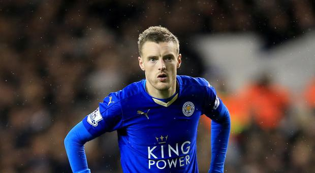 Jamie Vardy made his return from a groin operation at Tottenham on Wednesday