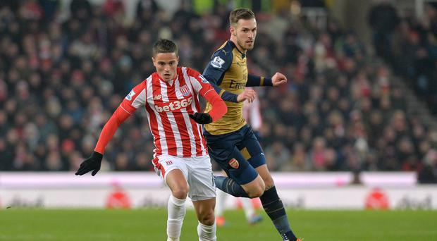 Aaron Ramsey, pictured right, was back at the Britannia Stadium on Sunday