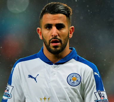 Spot of bother: Riyad Mahrez has missed two penalties