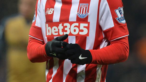 Four Stoke players sported gloves during their clash with Arsenal at the Britannia Stadium