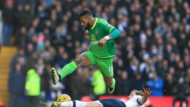 Sunderland's Jeremain Lens, left, insists he is going nowhere this month