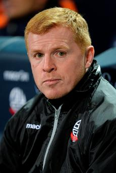 Taxing times: Neil Lennon faces an uncertain future at Bolton