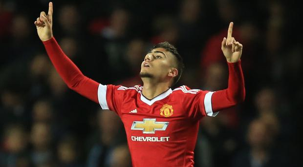 Andreas Pereira marked his first Manchester United start with a goal in the Capital One Cup in September