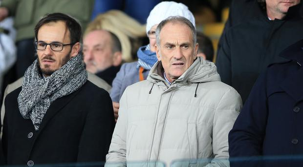 Francesco Guidolin, pictured right, will take charge of Swansea for the first time against Everton