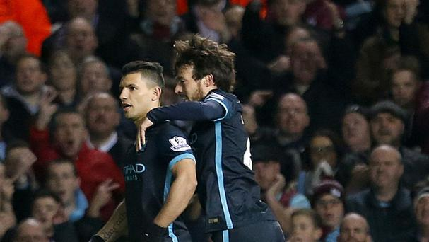Sergio Aguero twice equalised as Manchester City grabbed a point at West Ham
