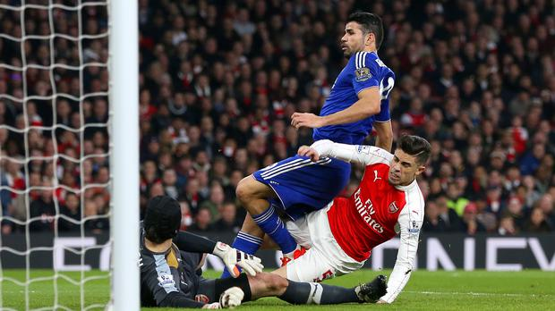 Diego Costa, top, has six goals in six games under Chelsea boss Guus Hiddink