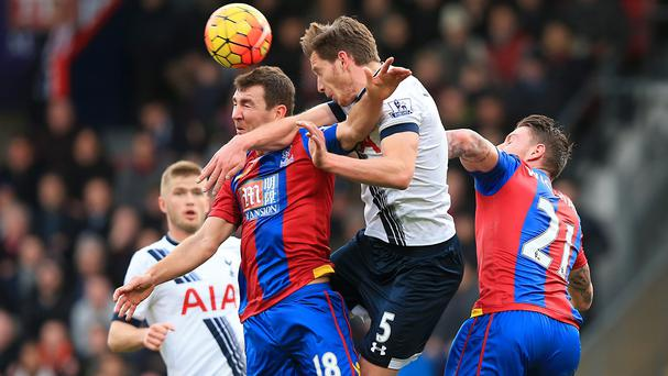 Jan Vertonghen sustained medial knee ligament damage in Tottenham's comeback win at Crystal Palace