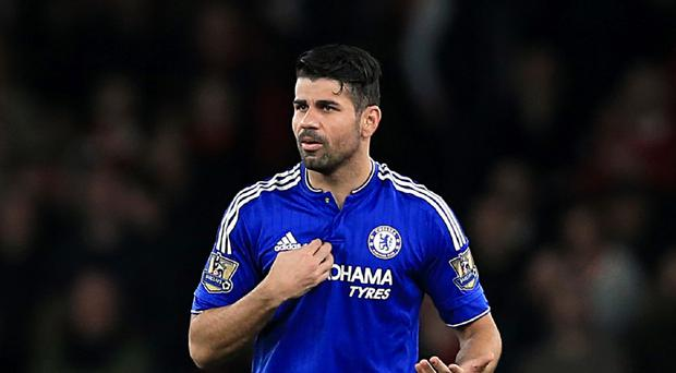Chelsea striker Diego Costa appeared to allay fears over his fitness by training with team-mates on Thursday