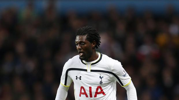 Former Tottenham striker Emmanuel Adebayor was one of the few free transfers during a big-spending January window for Barclays Premier League clubs