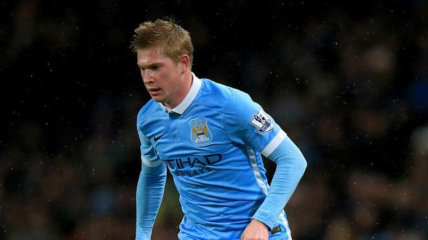 Manchester City's Kevin De Bruyne could be out for up to 10 weeks