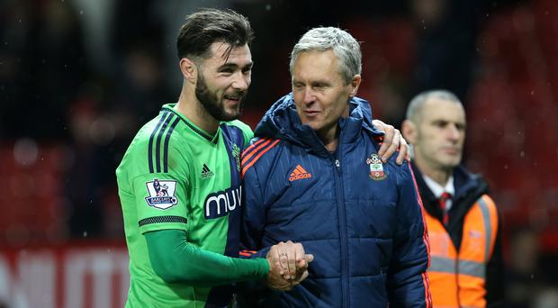Charlie Austin, left, scored on his Southampton debut