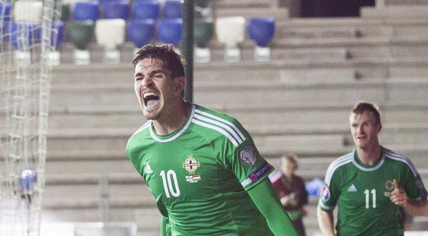 Kyle Lafferty starred in Northern Ireland's Euro 2016 qualifying campaign