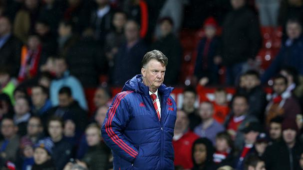 Louis van Gaal looked dejected after the 1-0 defeat to Saints