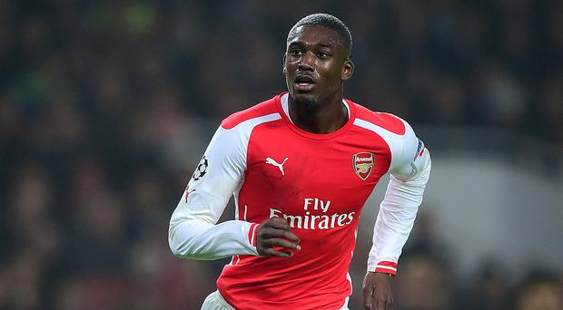 Arsenal striker Yaya Sanogo has joined Charlton on loan until the end of the season