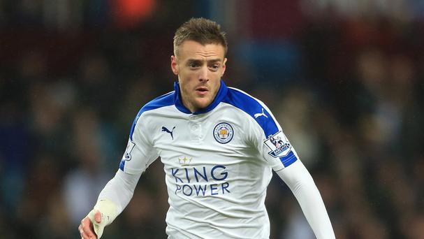 Leicester City's Jamie Vardy has scored 16 goals for the Foxes this season