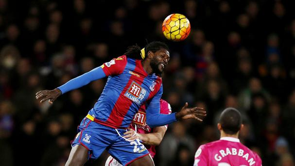 Emmanuel Adebayor made his Crystal Palace debut as a substitute in their 2-1 home defeat by Bournemouth