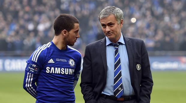 Eden Hazard, left, feels guilty for Jose Mourinho's sacking